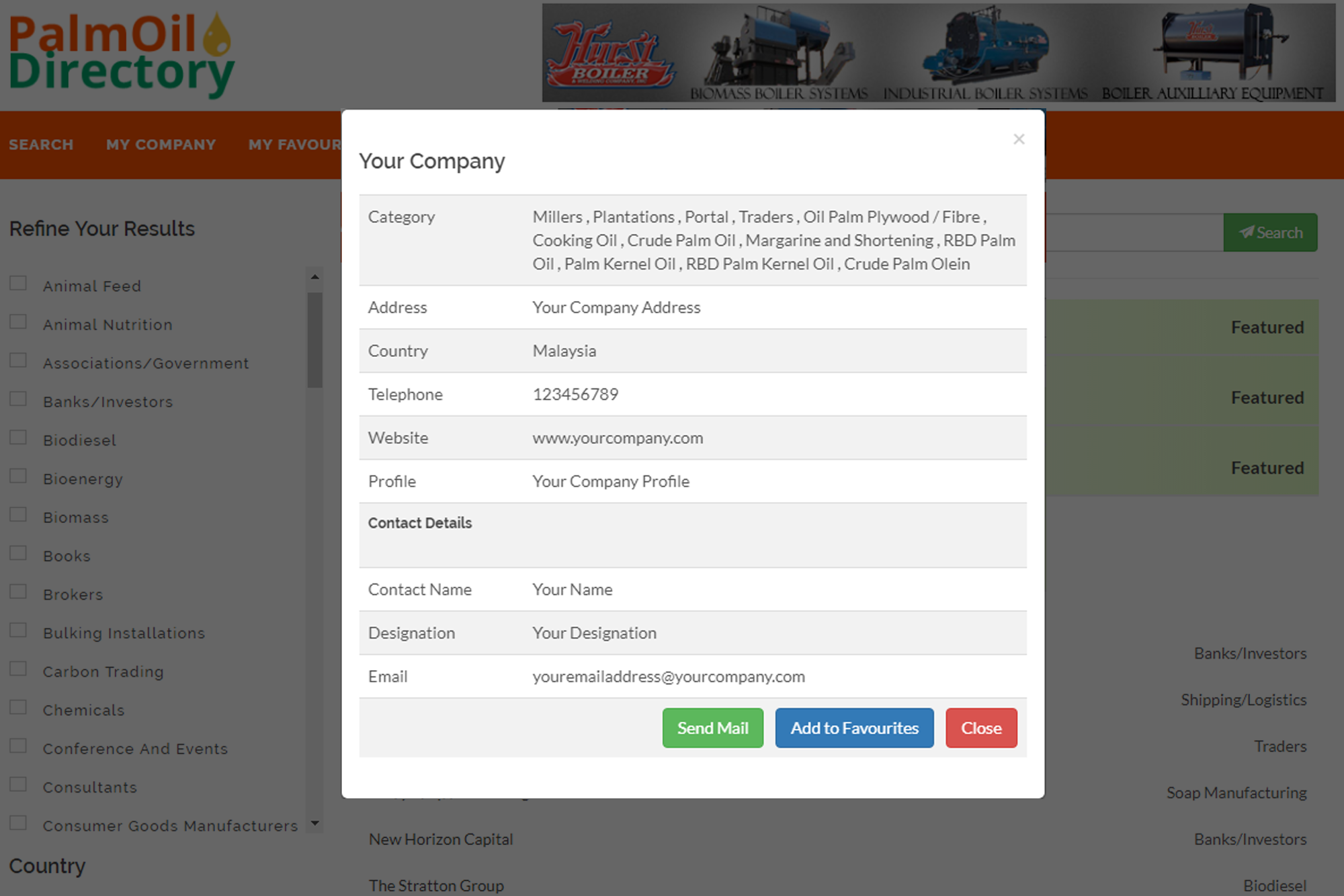 PalmOil Directory